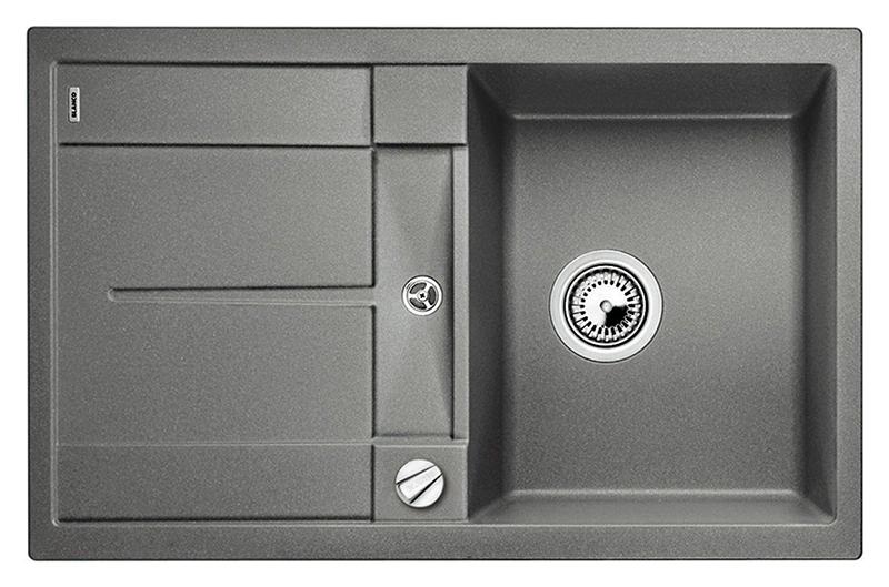 Metra 45 S 513027 алюметалликКухонные мойки<br>Кухонная мойка Blanco Metra 45 S 513027 врезная, 1 чаша с крылом. Крыло оснащено интегрированным сливом. Для установки в шкаф шириной от 45 см. Возможна установка под столешницу. Нужно учитывать ширину пристеночного канта в случае установки мойки возле стены или пенала. Цена указана за мойку. Все остальное приобретается дополнительно.<br>