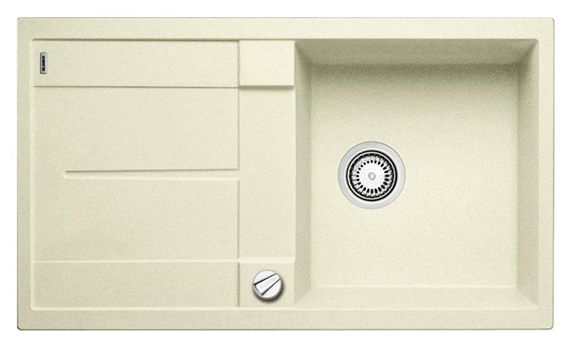 Metra 5 S 513038 жасминКухонные мойки<br>Кухонная мойка Blanco Metra 5 S 513038 врезная, 1 чаша с крылом. Очень просторная и глубокая чаша для мытья посуды больших размеров. Для установки в шкаф шириной от 50 см. Возможна установка под столешницу. Нужно учитывать ширину пристеночного канта в случае установки мойки возле стены или пенала.<br>
