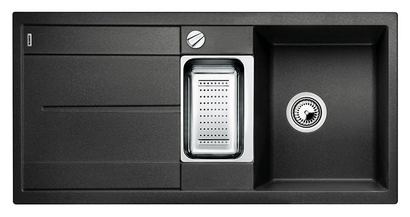 Metra 6 S 513053 антрацитКухонные мойки<br>Кухонная мойка Blanco Metra 6 S 513053 врезная, 2 чаши с крылом. Очень просторная основная чаша для мытья посуды больших размеров и просторная дополнительная чаша для оптимального комфорта. Для установки в шкаф шириной от 60 см. Возможна установка под столешницу. Нужно учитывать ширину пристеночного канта в случае установки мойки возле стены или пенала.<br>