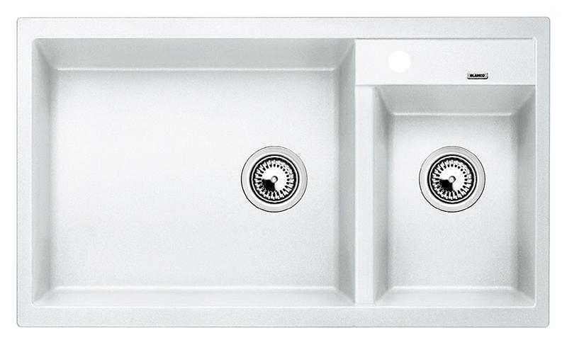 Metra 9 513269 белаяКухонные мойки<br>Кухонная мойка Blanco Metra 9 513269 врезная.  Для установки в шкаф шириной от 90 см. Возможна установка под столешницу. Нужно учитывать ширину пристеночного канта в случае установки мойки возле стены или пенала.<br>