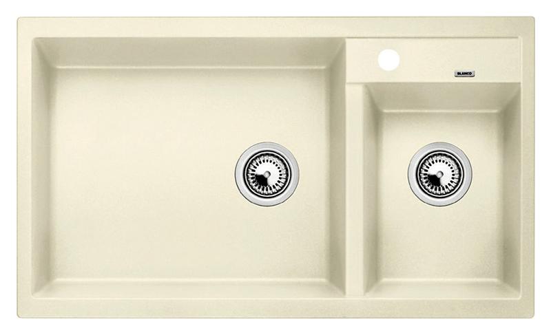 Metra 9 513270 жасминКухонные мойки<br>Кухонная мойка Blanco Metra 9 513270 врезная. Для установки в шкаф шириной от 90 см. Возможна установка под столешницу. Нужно учитывать ширину пристеночного канта в случае установки мойки возле стены или пенала.<br>