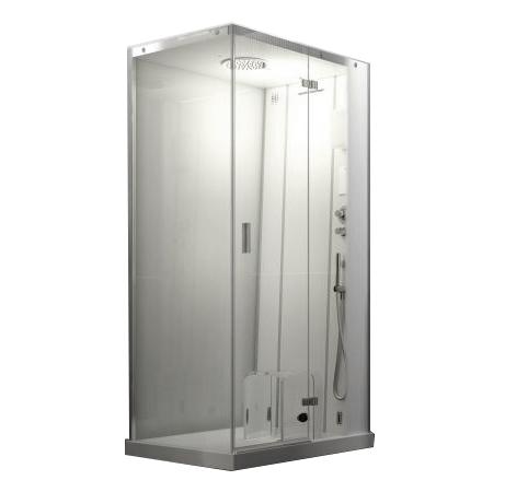 Cloud 100 Dream 9448-281A C турецкой баней DXДушевые кабины<br>Душевая кабина Jacuzzi Cloud 100 Dream – это СПА для ежедневного использования с индивидуальными процедурами велнеса, целенаправленными струями воды и двумя запрограммированными последовательностями – интенсивной или нежной. В комплекте: xамам, ароматерапия, Cromodream, Waterfall, разбрызгиватель с эффектом дождя, ручной душ с одной струей, сенсорный дисплей, однорычажный смеситель, термостатический смеситель, емкость для предметов из опалового акрила, съемное сиденье.<br>