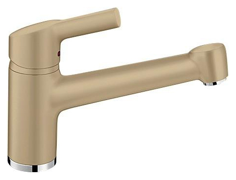 Elipso II 514890 ШампаньСмесители<br>Blanko Elipso II 514890. Однорычажный смеситель для кухни. Сочетает хромированную поверхность и инновационный материал Silgranit, цвет шампань. Керамический картридж. Гибкая подводка стандарта 3/8. Допустимая толщина столешницы: 63 мм. Длина излива: 204 мм. Высота излива: 133 мм. Вращение излива на 130 градусов. Стабилизирующая пластина для увеличения устойчивости смесителя.<br>