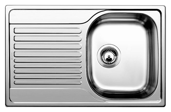 Tipo 45 S Compact 513442 нержавеющая сталь полированнаяКухонные мойки<br>Кухонная мойка Blanco Tipo 45 S Compact 513442 врезная. Большой размер чаши, функциональный дизайн. Для установки в шкаф шириной от 45 см. Монтаж в один уровень под столешницу. Нужно учитывать ширину пристеночного канта в случае установки мойки возле стены или пенала.<br>