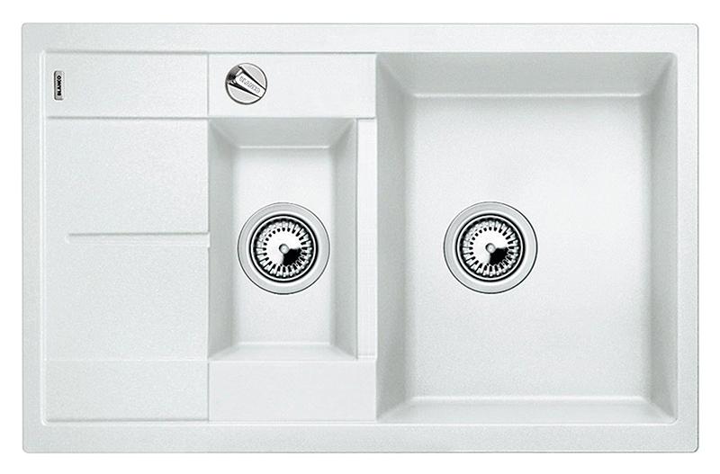 Metra 6 S Compact 513468 белаяКухонные мойки<br>Кухонная мойка Blanco Metra 6 S Compact 513468 врезная. Хорошая вместимость чаши при небольших размерах мойки. Возможна установка под столешницу. Для установки в шкаф шириной от 60 см. Нужно учитывать ширину пристенного канта в случае установки мойки возле стены или пенала.<br>