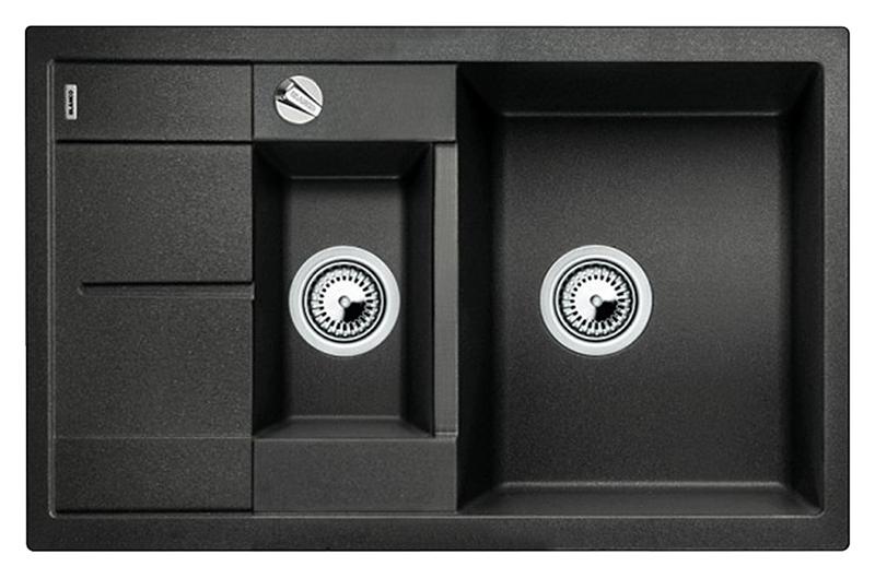 Metra 6 S Compact 513473 антрацитКухонные мойки<br>Кухонная мойка Blanco Metra 6 S Compact 513473 врезная. Хорошая вместимость чаш при небольших размерах мойки. Возможна установка под столешницу. Для установки в шкаф шириной от 60 см. Нужно учитывать ширину пристенного канта в случае установки мойки возле стены или пенала.<br>