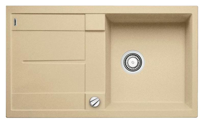 Metra 5 S 513935 шампаньКухонные мойки<br>Кухонная мойка Blanco Metra 5 S 513935 врезная, 1 чаша с крылом. Очень просторная и глубокая чаша для мытья посуды больших размеров. Для установки в шкаф шириной от 50 см. Возможна установка под столешницу. Нужно учитывать ширину пристеночного канта в случае установки мойки возле стены или пенала.<br>