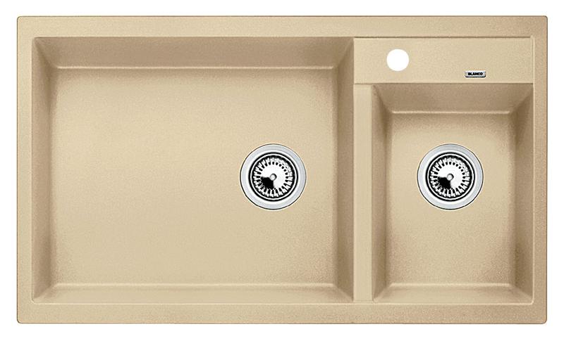Metra 9 513946 шампаньКухонные мойки<br>Кухонная мойка Blanco Metra 9 513946 врезная. Необычайно большая основная чаша и просторная чаша подходят для мытья посуды больших размеров. Для установки в шкаф шириной от 90 см. Возможна установка под столешницу. Нужно учитывать ширину пристеночного канта в случае установки мойки возле стены или пенала.<br>