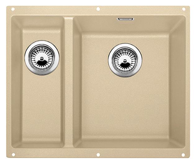 Subline 340/160-U 520408 шампань, праваяКухонные мойки<br>Кухонная мойка Blanco Subline 340/160-U 520408, большая чаша справа, маленькая слева. Максимальный объем чаш, благодаря современным технологиям производства и установки. Элегантный и гигиеничный перелив C-overflow®.  Для установки в шкаф шириной от 60 см. Установка под столешницу в один уровень. Цена указана за мойку. Все остальное приобретается дополнительно.<br>