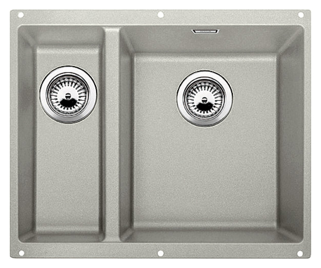 Subline 340/160-U 520405 жемчужная, праваяКухонные мойки<br>Кухонная мойка Blanco Subline 340/160-U 520405, большая чаша справа, маленькая слева. Максимальный объем чаш, благодаря современным технологиям производства и установки. Элегантный и гигиеничный перелив C-overflow®.  Для установки в шкаф шириной от 60 см. Установка под столешницу в один уровень. Цена указана за мойку. Все остальное приобретается дополнительно.<br>
