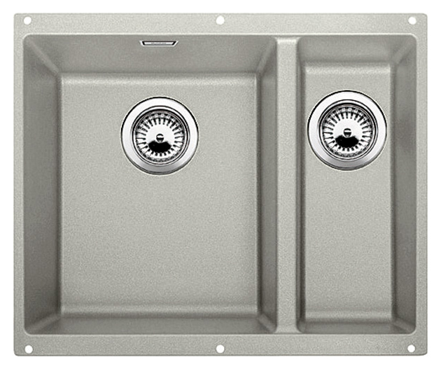 Subline 340/160-U 520647 жемчужная, леваяКухонные мойки<br>Кухонная мойка Blanco Subline 340/160-U 520647, большая чаша слева, маленькая справа. Максимальный объем чаш, благодаря современным технологиям производства и установки. Элегантный и гигиеничный перелив C-overflow®.  Для установки в шкаф шириной от 60 см. Установка под столешницу в один уровень.<br>