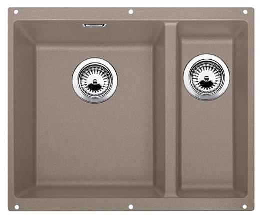 Subline 340/160-U 517430 серый беж, леваяКухонные мойки<br>Кухонная мойка Blanco Subline 340/160-U 517430, большая чаша слева, маленькая справа. Максимальный объем чаш, благодаря современным технологиям производства и установки. Элегантный и гигиеничный перелив C-overflow®.  Для установки в шкаф шириной от 60 см. Установка под столешницу в один уровень. Цена указана за мойку. Все остальное приобретается дополнительно.<br>