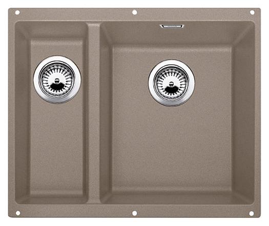 Subline 340/160-U 520409 серый беж, праваяКухонные мойки<br>Кухонная мойка Blanco Subline 340/160-U 520409, большая чаша справа, маленькая слева. Максимальный объем чаш, благодаря современным технологиям производства и установки. Элегантный и гигиеничный перелив C-overflow®.  Для установки в шкаф шириной от 60 см. Установка под столешницу в один уровень.<br>