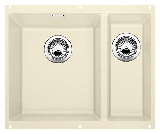 Subline 340/160-U 513791 жасмин, леваяКухонные мойки<br>Кухонная мойка Blanco Subline 340/160-U 513791, большая чаша слева, маленькая справа. Максимальный объем чаш, благодаря современным технологиям производства и установки. Элегантный и гигиеничный перелив C-overflow®.  Для установки в шкаф шириной от 60 см. Установка под столешницу в один уровень. Цена указана за мойку. Все остальное приобретается дополнительно.<br>