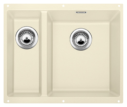 Subline 340/160-U 520407 жасмин, праваяКухонные мойки<br>Кухонная мойка Blanco Subline 340/160-U 520407, большая чаша справа, маленькая слева. Максимальный объем чаш, благодаря современным технологиям производства и установки. Элегантный и гигиеничный перелив C-overflow®.  Для установки в шкаф шириной от 60 см. Установка под столешницу в один уровень.<br>