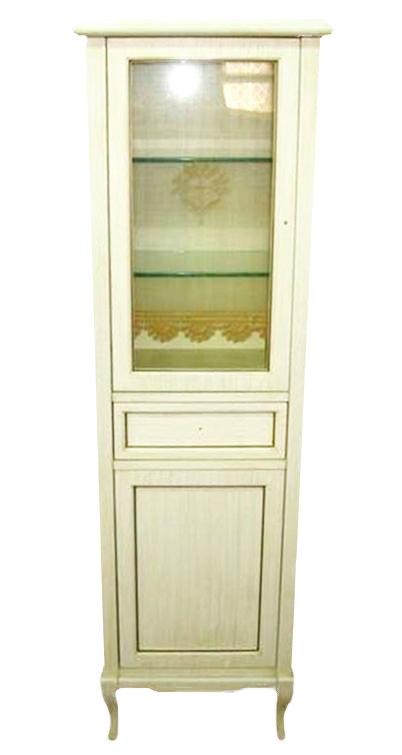 Victoria H0/11PAT.DX Белый с патиной/бронзаМебель для ванной<br>Пенал для ванны Labor Legno Victoria с одним выдвижным ящиком и двумя левосторонними дверцами из массива дерева. Цвет белый с патиной, фурнитура бронза.<br>