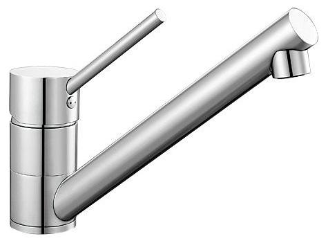 Antas 515337 ХромСмесители<br>Blanko Antas 515337. Однорычажный смеситель для кухни. Цвет хром, рычаг переключения расположен вверху над изливом. Керамический картридж. Гибкая подводка стандарта 3/8.  Допустимая толщина столешницы: 40 мм. Длина излива: 208 мм. Высота излива: 139 мм. Вращение излива на 360 градусов. Запатентованный рассекатель, уменьшающий отложения налета от воды. Стабилизирующая пластина для увеличения устойчивости смесителя.<br>