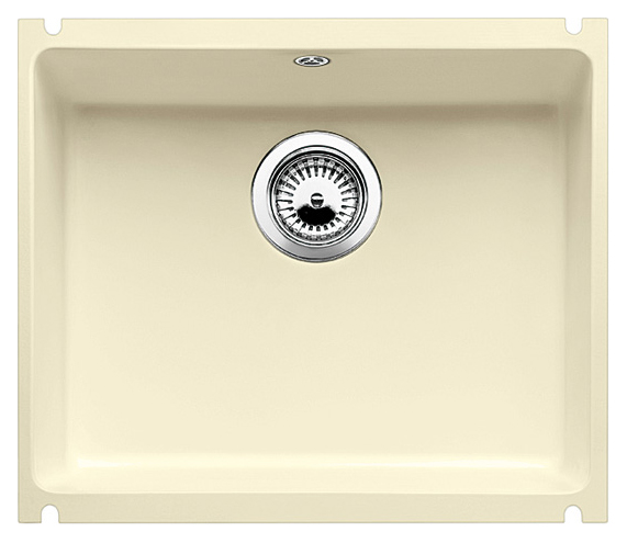 Subline 500-U 514511 жасминКухонные мойки<br>Кухонная мойка Blanco Subline 500-U 514511 с клапаном-автоматом из керамики с водоотталкивающим покрытием PuraPlus®.  Благодаря покрытию на поверхности мойки образуется меньше отложений и ее легче чистить. Монтаж под столешницу, толщина которой должна быть не менее 25 мм. Для установки в шкаф шириной от 60 см.<br>