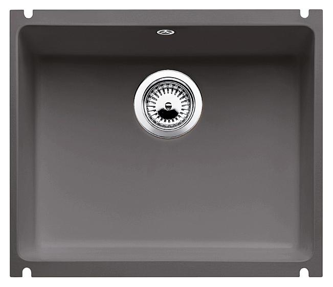 Subline 500-U 516975 базальтКухонные мойки<br>Кухонная мойка Blanco Subline 500-U 516975 с клапаном-автоматом из керамики с водоотталкивающим покрытием PuraPlus®. Благодаря покрытию на поверхности мойки образуется меньше отложений и ее легче чистить. Монтаж под столешницу, толщина которой должна быть не менее 25 мм. Для установки в шкаф шириной от 60 см.<br>