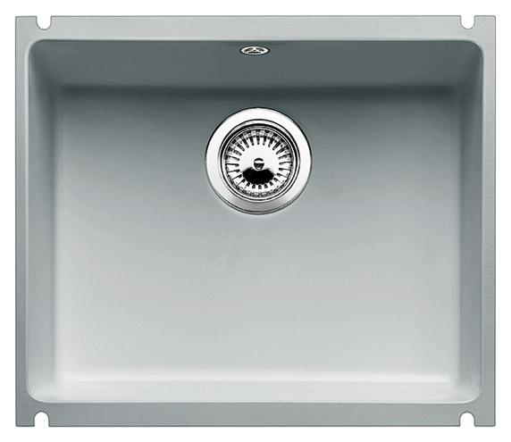 Subline 500-U 514512 серый алюминийКухонные мойки<br>Кухонная мойка Blanco Subline 500-U 514512 с клапаном-автоматом из керамики с водоотталкивающим покрытием PuraPlus®.  Благодаря покрытию на поверхности мойки образуется меньше отложений и ее легче чистить. Монтаж под столешницу, толщина которой должна быть не менее 25 мм. Для установки в шкаф шириной от 60 см.<br>