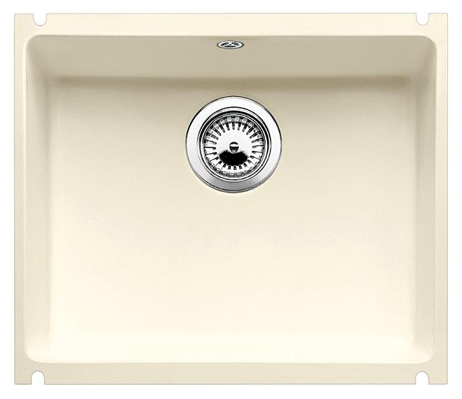 Subline 500-U 519596 магнолия глянцеваяКухонные мойки<br>Кухонная мойка Blanco Subline 500-U 519596 с клапаном-автоматом из керамики с водоотталкивающим покрытием PuraPlus®.  Благодаря покрытию на поверхности мойки образуется меньше отложений и ее легче чистить. Монтаж под столешницу, толщина которой должна быть не менее 25 мм. Для установки в шкаф шириной от 60 см.<br>