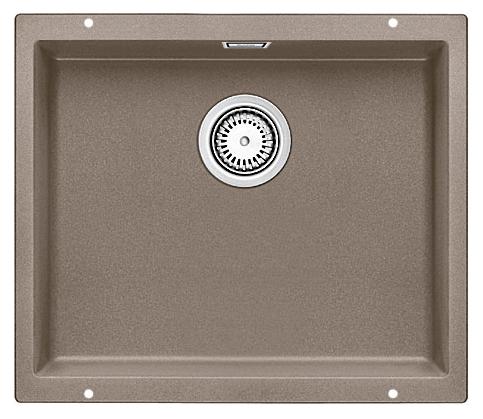 Subline 500-U 517434 серый бежКухонные мойки<br>Кухонная мойка Blanco Subline 500-U 517434. Максимальный объем чаши благодаря современным технологиям производства и установки. Элегантный и гигиеничный перелив C-overflow®. Для установки в шкаф шириной от 60 см. Установка под столешницу в один уровень.<br>