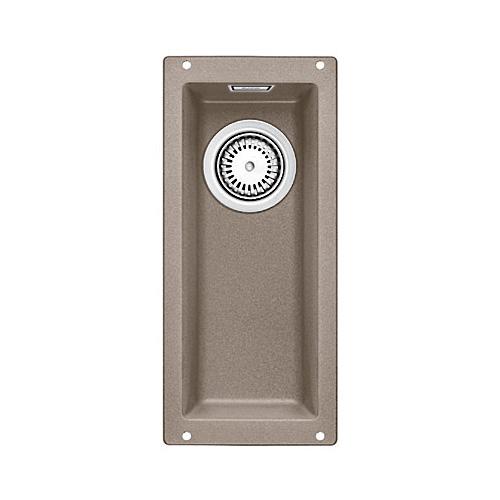 Subline 160-U 517425 серый бежКухонные мойки<br>Кухонная мойка Blanco Subline 160-U 517425. Максимальный объем чаши благодаря современным технологиям производства и установки. Элегантный и гигиеничный перелив C-overflow®. Для установки в шкаф шириной от 30 см. Установка под столешницу в один уровень.<br>