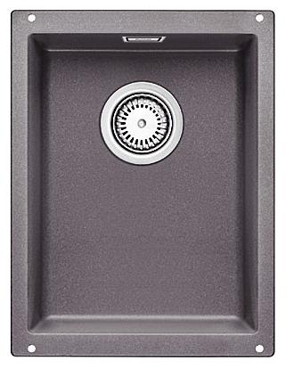 Subline 320-U 518952 темная скалаКухонные мойки<br>Кухонная мойка Blanco Subline 320-U 518952. Максимальный объем чаши благодаря современным технологиям производства и установки. Элегантный и гигиеничный перелив C-overflow®. Для установки в шкаф шириной от 40 см. Установка под столешницу в один уровень. Цена указана за мойку. Все остальное приобретается дополнительно.<br>