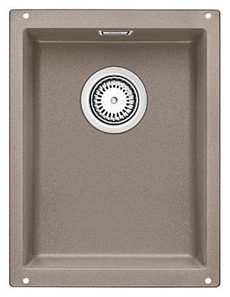 Subline 320-U 517427 серый бежКухонные мойки<br>Кухонная мойка Blanco Subline 320-U 517427. Максимальный объем чаши благодаря современным технологиям производства и установки. Элегантный и гигиеничный перелив C-overflow®. Для установки в шкаф шириной от 40 см. Установка под столешницу в один уровень.<br>