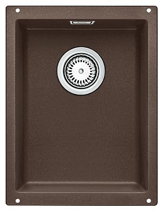 Subline 320-U 515055 кофеКухонные мойки<br>Кухонная мойка Blanco Subline 320-U 515055. Максимальный объем чаши благодаря современным технологиям производства и установки. Элегантный и гигиеничный перелив C-overflow®. Для установки в шкаф шириной от 40 см. Установка под столешницу в один уровень.<br>