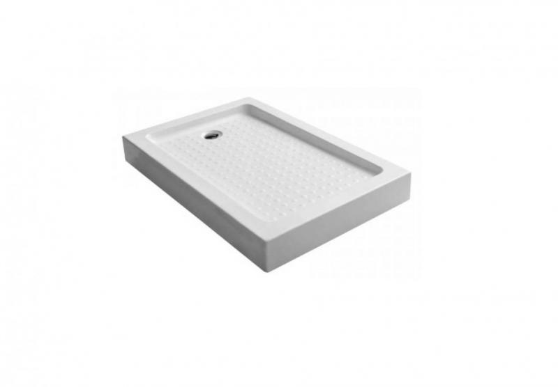 Nobile EF-8050  БелыйДушевые поддоны<br>Душевой поддон Edelform Nobile EF-8050 прямоугольный, с антискользящим покрытием. Цвет белый.<br>