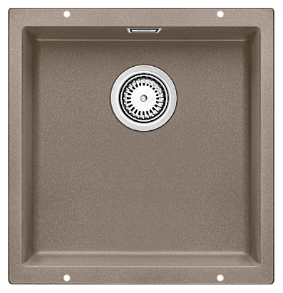 Subline 400-U 517433 серый бежКухонные мойки<br>Кухонная мойка Blanco Subline 400-U 517433. Максимальный объем чаши благодаря современным технологиям производства и установки. Элегантный и гигиеничный перелив C-overflow®. Для установки в шкаф шириной от 50 см.<br>