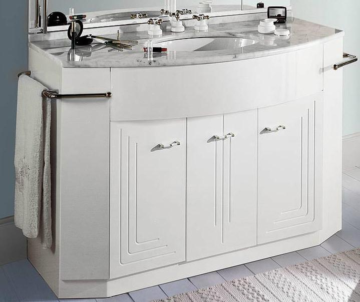 Paris PPL0/90 Белый/хромМебель для ванной<br>Тумба под раковину Labor Legno Paris с тремя дверцами из массива дерева. Цвет белый, фурнитура хром.<br>