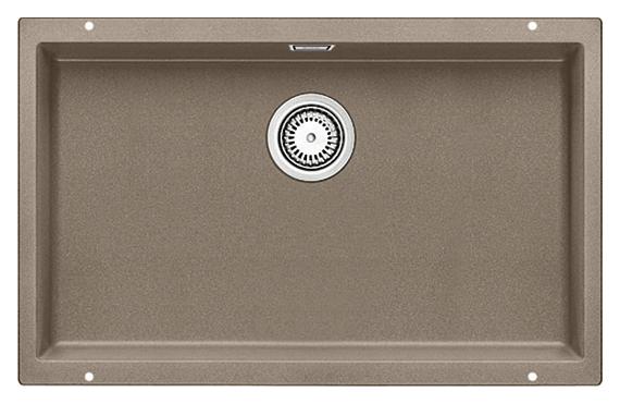 Subline 700-U 517437 серый бежКухонные мойки<br>Кухонная мойка Blanco Subline 700-U 517437. Максимальный объем чаши благодаря современным технологиям производства и установки. Элегантный и гигиеничный перелив C-overflow®. Для установки в шкаф шириной от 80 см. Цена указана за мойку. Все остальное приобретается дополнительно.<br>