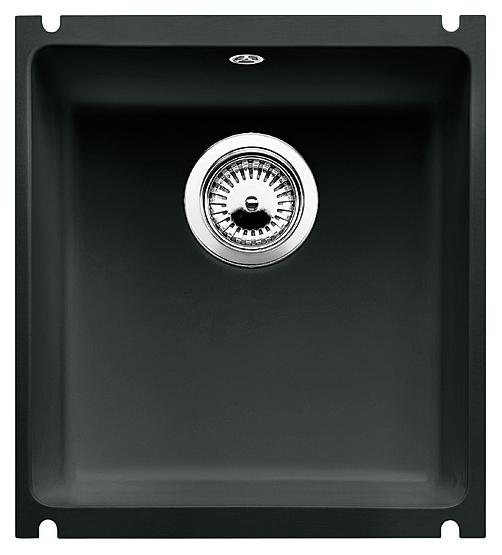Subline 375-U 516044 чернаяКухонные мойки<br>Кухонная мойка Blanco Subline 375-U 516044 из керамики с водоотталкивающим покрытием PuraPlus®. Благодаря покрытию на поверхности мойки образуется меньше отложений и ее легче чистить. Монтаж под столешницу с минимальной толщиной 25 мм. Может потребоваться выпил на боковых стенках шкафа. Для установки в шкаф шириной от 45 см.<br>