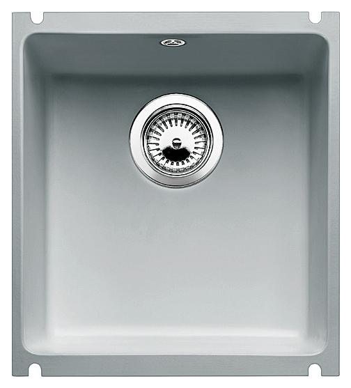 Subline 375-U 516041 серый алюминийКухонные мойки<br>Кухонная мойка Blanco Subline 375-U 516041 из керамики с водоотталкивающим покрытием PuraPlus®. Благодаря покрытию на поверхности мойки образуется меньше отложений и ее легче чистить. Монтаж под столешницу с минимальной толщиной 25 мм. Может потребоваться выпил на боковых стенках шкафа. Для установки в шкаф шириной от 45 см.<br>