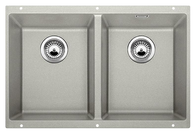 Subline 350/350-U 520650 жемчужнаяКухонные мойки<br>Кухонная мойка Blanco Subline 350/350-U 520650. Максимальный объем чаш благодаря современным технологиям производства и установки. Элегантный и гигиеничный перелив C-overflow®. Для установки в шкаф шириной от 80 см.<br>