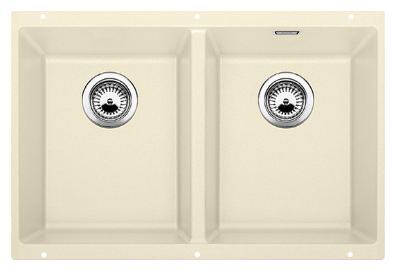 Subline 350/350-U 516288 жасминКухонные мойки<br>Кухонная мойка Blanco Subline 350/350-U 516288. Максимальный объем чаш благодаря современным технологиям производства и установки. Элегантный и гигиеничный перелив C-overflow®. Для установки в шкаф шириной от 80 см.<br>