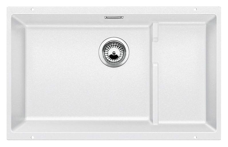 Subline 700-U Level 518393 белаяКухонные мойки<br>Кухонная мойка Blanco Subline 700-U Level 518393. Максимальный объем чаши благодаря современным технологиям производства и установки. Уровень для временного хранения и просушки. Элегантный и гигиеничный перелив C-overflow®. Для установки в шкаф шириной от 80 см.<br>