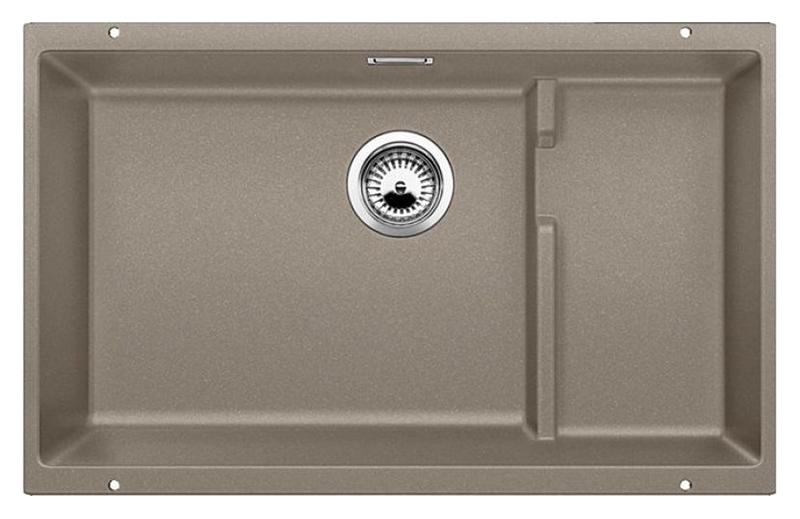 Subline 700-U Level 518397 серый бежКухонные мойки<br>Кухонная мойка Blanco Subline 700-U Level 518397. Максимальный объем чаши благодаря современным технологиям производства и установки. Дополнительный уровень для временного хранения и просушки. Элегантный и гигиеничный перелив C-overflow®. Для установки в шкаф шириной от 80 см. Цена указана за мойку. Все остальное приобретается дополнительно.<br>