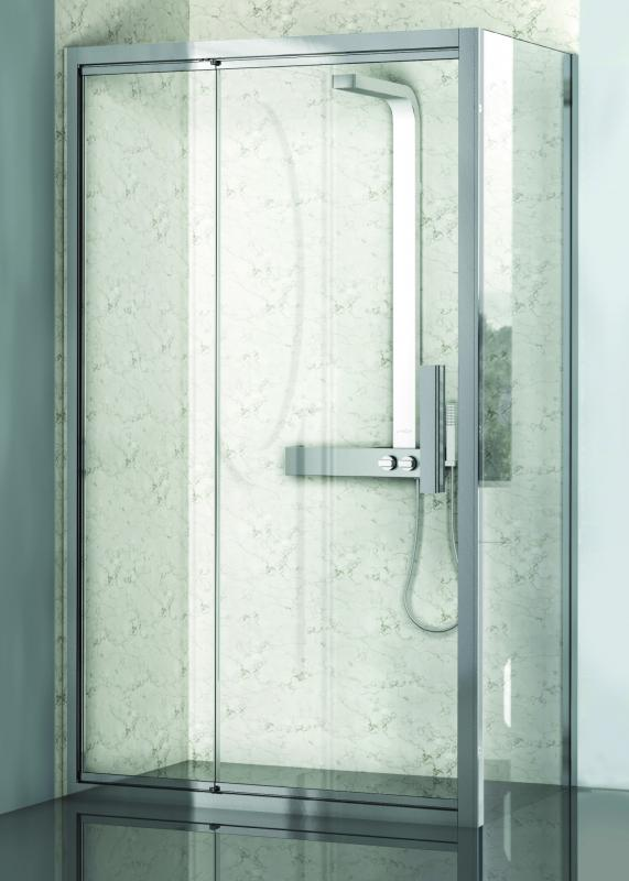 Lybre 800х2000 блестящее серебро/стекло прозрачноеДушевые ограждения<br>Фиксированная боковая стенка Sturm Lybre 800х2000.<br>