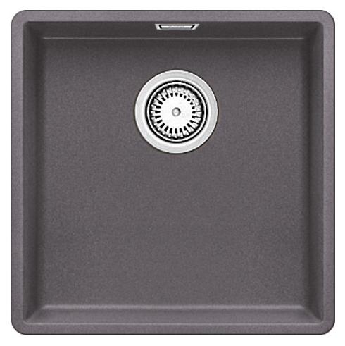Subline 400-F 519797 темная скалаКухонные мойки<br>Кухонная мойка Blanco Subline 400-F 519797. Максимальная вместимость чаши создает оптимальную эргономику рабочего процесса на кухне. Для установки в шкаф шириной от 50 см. Монтаж в один уровень со столешницей.<br>