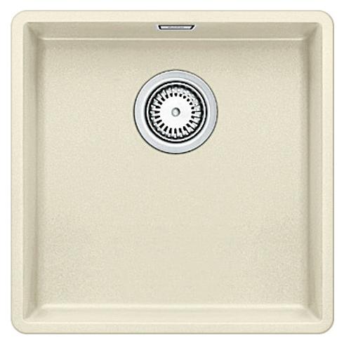 Subline 400-F 519800 жасминКухонные мойки<br>Кухонная мойка Blanco Subline 400-F 519800. Максимальная вместимость чаши создает оптимальную эргономику рабочего процесса на кухне. Для установки в шкаф шириной от 50 см. Монтаж в один уровень со столешницей.<br>