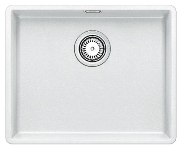 Subline 500-F 519812 белаяКухонные мойки<br>Кухонная мойка Blanco Subline 500-F 519812. Максимальная вместимость чаши создает оптимальную эргономику рабочего процесса на кухне. Для установки в шкаф шириной от 60 см. Монтаж в один уровень со столешницей.<br>