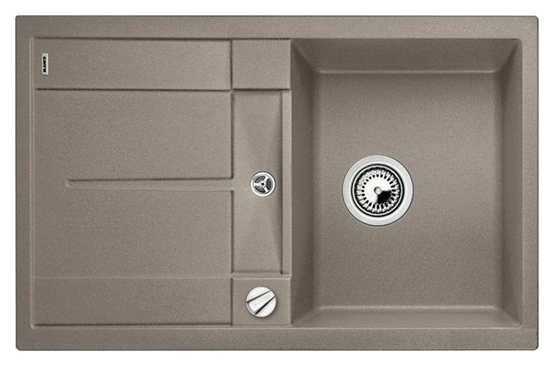 Metra 45 S 517345 серый бежКухонные мойки<br>Кухонная мойка Blanco Metra 45 S 517345 врезная, 1 чаша с крылом. Крыло оснащено интегрированным сливом. Для установки в шкаф шириной от 45 см. Возможна установка под столешницу. Нужно учитывать ширину пристенного канта в случае установки мойки возле стены или пенала.<br>