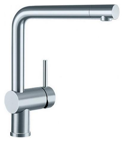 Linus 517183 Нержавеющая сталь полированнаяСмесители<br>Blanko Linus 517183. Однорычажный смеситель для кухни. Цвет нержавеющая сталь полированная. Керамический картридж. Гибкая подводка стандарта 3/8,  Допустимая толщина столешницы: 50 мм. Длина излива: 219 мм. Высота излива: 254 мм. Вращение излива на 360 градусов. Стабилизирующая пластина для увеличения устойчивости смесителя.<br>