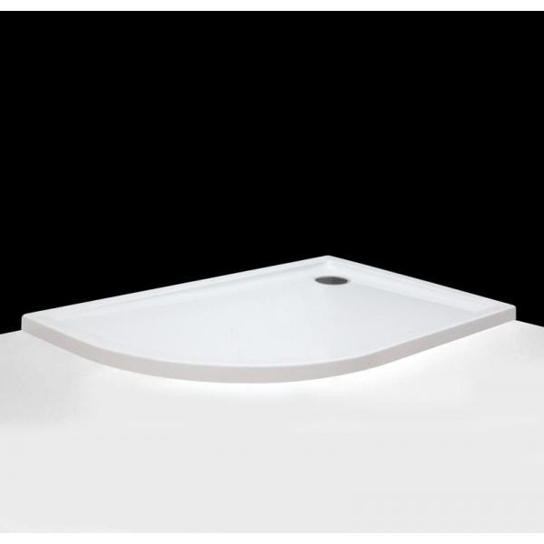 Flat Asym 1200x800 Белый LДушевые поддоны<br>Душевой поддон радиальный асимметричный Roltechnik Flat Kvadro 1500x750 левосторонний. Цвет белый.<br>