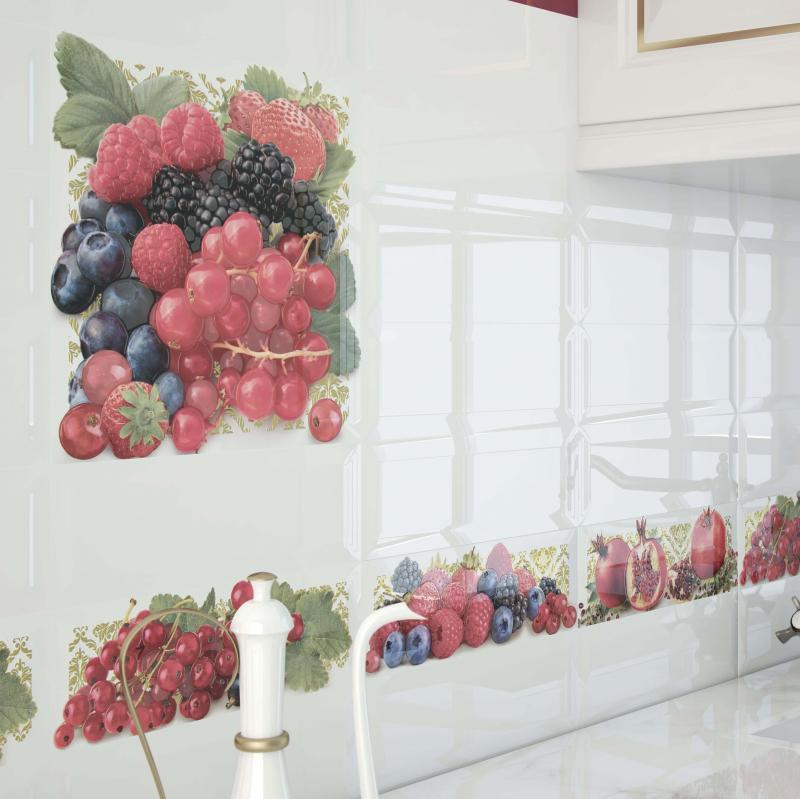 Керамическая плитка Monopole Ceramica Tutti Frutti Ribes 10х30 декор стоимость
