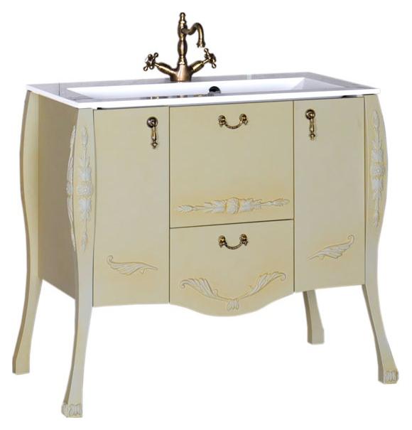 Виктория 90 оливаМебель для ванной<br>Тумба под раковину Aquanet Виктория 90, цвет олива, 2 распашные дверцы, 2 выдвижных ящика. Система доводчиков делает движение дверок и ящиков плавным и тихим. В комплект поставки входит тумба.<br>