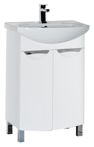 Парма 65 белая глянцеваяМебель для ванной<br>Тумба под раковину Aquanet Парма 65, 2 распашные дверцы. Зона хранения обеспечивает достаточно места для расположения всего необходимого, при этом мебель выглядит очень компактной. Интересным акцентом служит оригинальная форма ручек на дверках, которые, при этом, очень удобны при касании. Дверцы снабжены доводчиком для плавного закрывания. В комплект поставки входит тумба.<br>